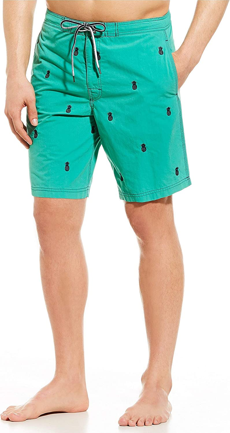 Cremieux Mens Big and Tall Embroidered Patterned Swim Trunks