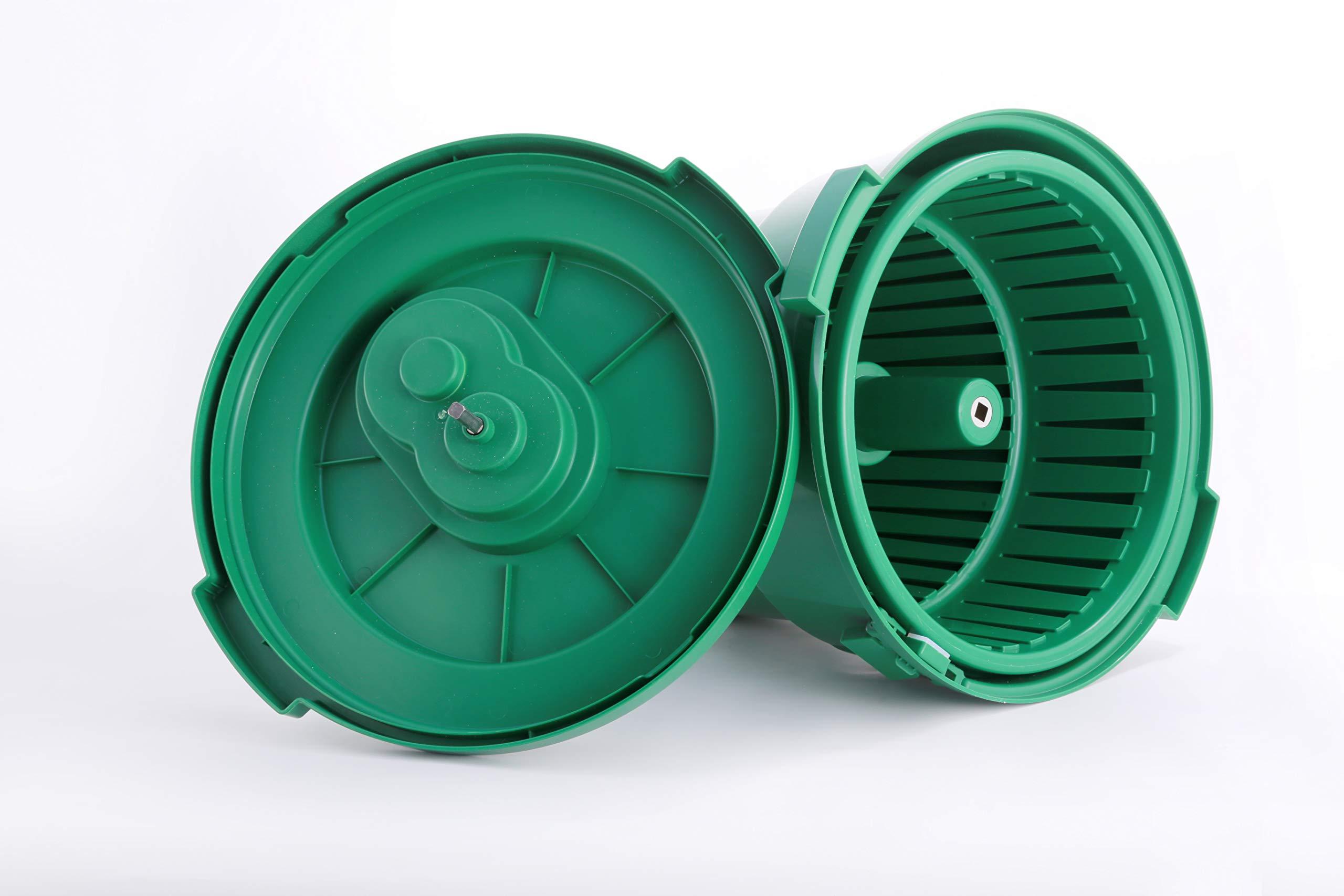 Hakka 20 Liter/5 Gallon Large Commercial Manual Salad Spinner&Dryer by HAKKA FOOD PROCESSING (Image #2)