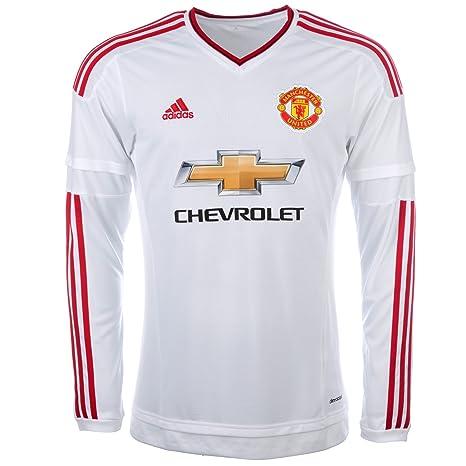 size 40 bb076 7c885 Amazon.com : adidas 2015-2016 Man Utd Away Long Sleeve ...