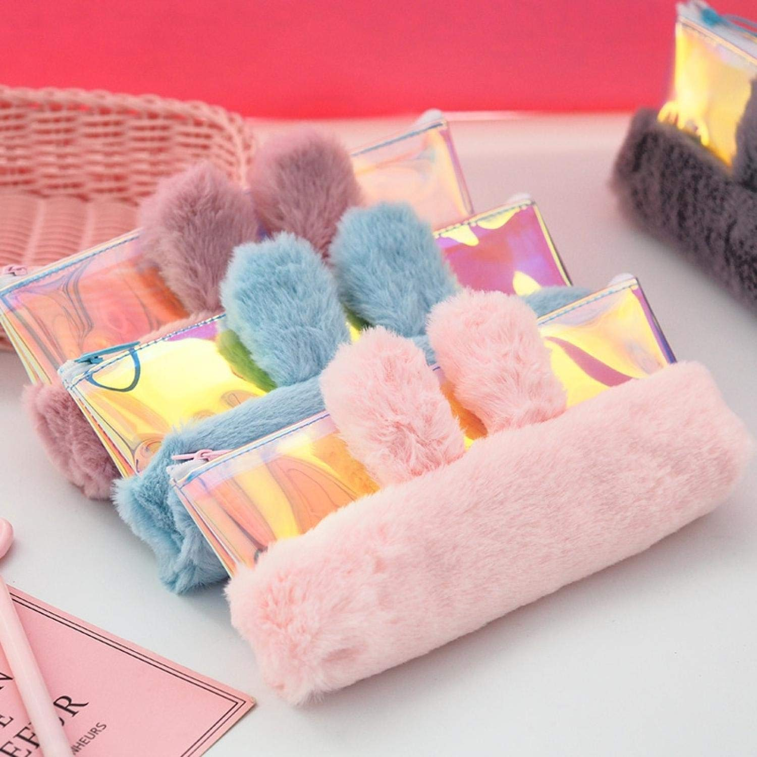 Amazon.com: 1 Pcs Kawaii Pencil Case Meng Rabbit Plush ...