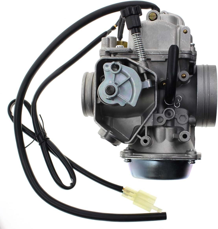 Carbhub - Carburador para Honda Foreman 450 TRX 450 TRX450ES TRX450FE TRX450FM TRX450S 1998-2004 con cubierta de base del acelerador y tornillo