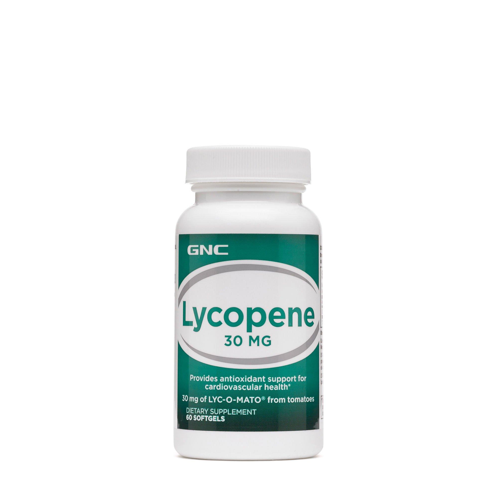 GNC Lycopene 30mg, 60 Softgels, Supports Cardiovascular Health