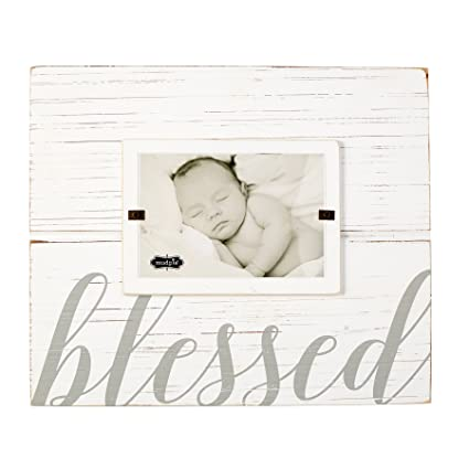 Amazon.com - Mud Pie 4695383 Painted Wood Blessed Photo Frame, 4\