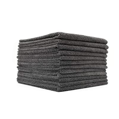 (12-Pack) 16 in. x 16 in. Commercial Grade All-Purpose Microfiber Highly Absorbent, LINT-Free, Streak-Free Cleaning Towels - THE RAG COMPANY (Grey): Health & Personal Care