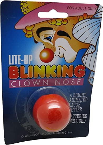 Rudolph the Reindeer Red Nose Brand New Lite-Up Blinking Clown// Santa