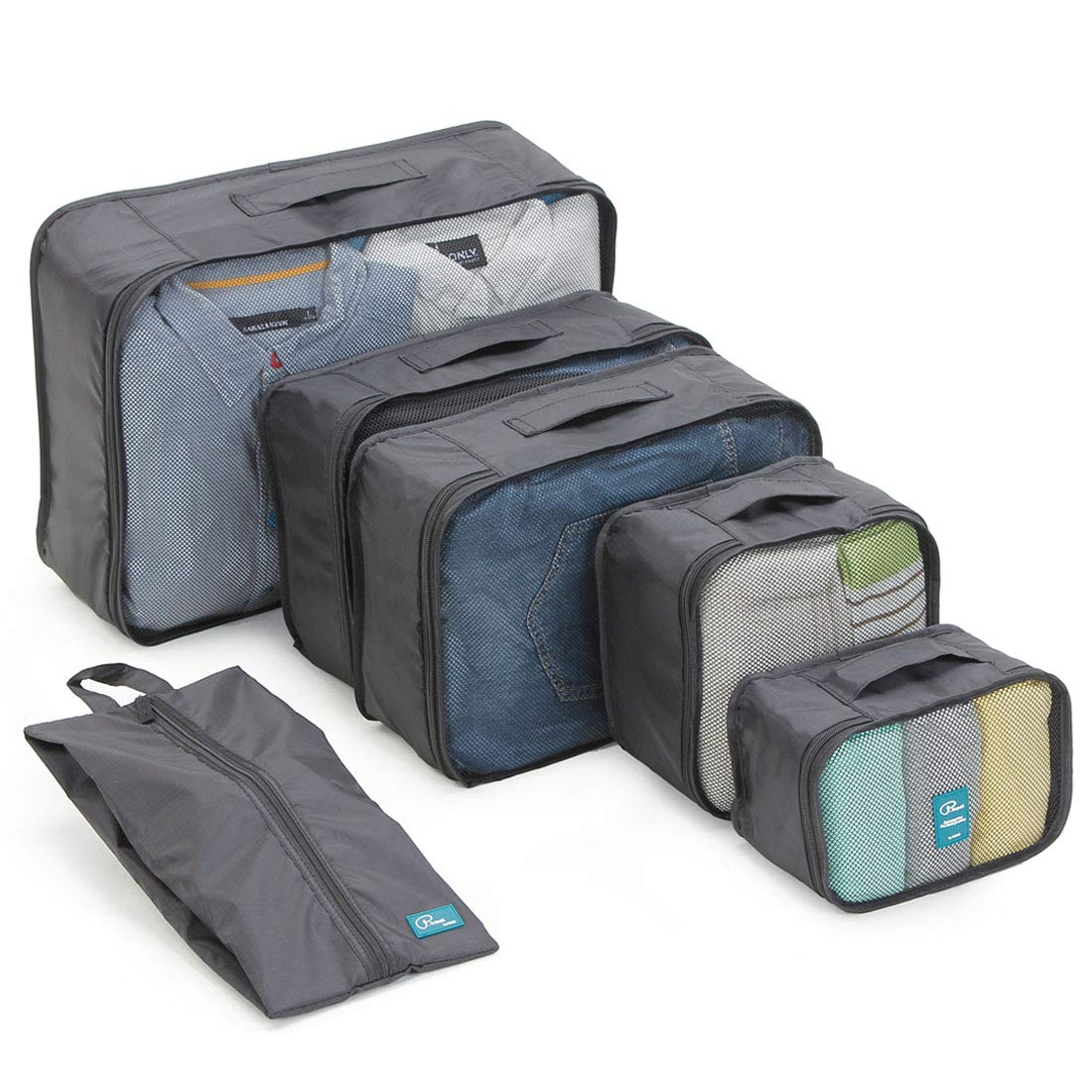6 Set Packing Cubes/ Travel Cubes- Travel Organizers with ShoesBag by P.travel