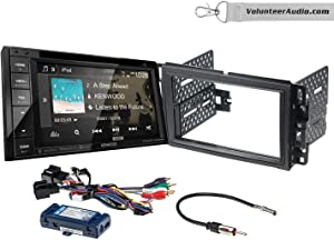 Kenwood DDX276BT Double Din Radio Install Kit With 6.2 Touchscreen, SiriusXM Fits 2007-2013 Silverado, Avalanche (Retains steering wheel controls)