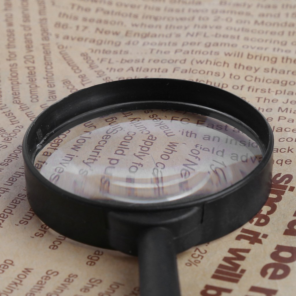 CHBC Magnifier 60mm Hand Held 5X Magnifying Loupe Reading Glass Lens by CHBC (Image #7)
