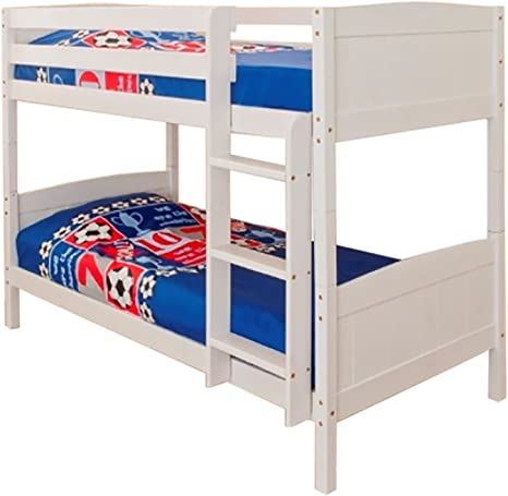 Comfy Living 3ft Single Bunk Bed White Wash Finish Solid Pine Wood Christopher Amazon Co Uk Kitchen Home