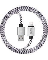 Lightning Cable, Earfly Lightning to USB Cable 6ft with Super High Speed USB 2.0 Charging Data Cables for iPhone7, 6s, SE, 6s plus, 6plus, 6,5s 5c 5, iPad Mini, Air, iPad, iPod . (Black+ White)