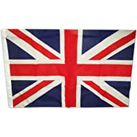 My London Souvenirs UJ Flag with Hooks 90 cm x 60 cm/2 x 3 ft Union Jack British Royal Flag with Hooks for Easy Hanging, 3 Feet by 2 Feet, 90cm by 60cm, GB, UK, England