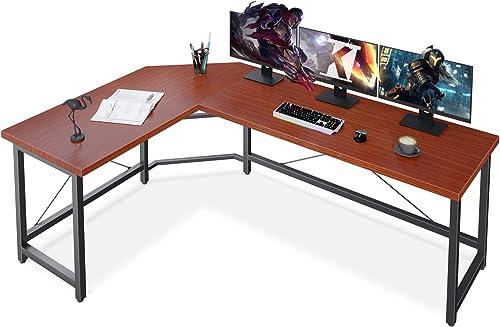 L Shaped Desk Corner Computer Desk 66″ Sturdy Home Office Computer Table Writing Desk Larger Gaming Desk Workstation