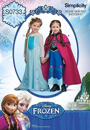 Simplicity 1233 Größe A Disneys Frozen Kostüm für Kinder ...