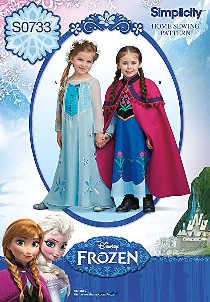 Amazon Simplicity Creative Patterns S40 Disney's Frozen Custom Disney Sewing Patterns
