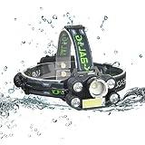 NCF 10000ルーメン LEDヘッドライトT6 【実用点灯3-10時間】6種の点灯モード 充電式 登山 釣り アウトドア 防水 LEDヘッドランプ 充電用USBケーブル・18650電池付属