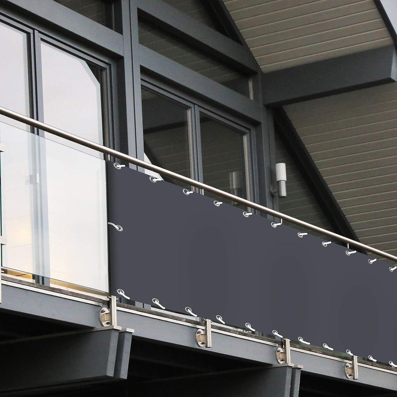 Amazon De Balkon Sichtschutz Pvc 90x600 Cm Extra Blickdicht
