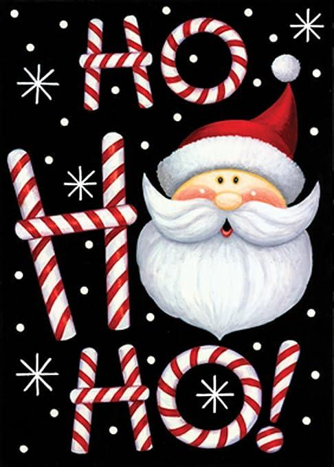 "Santa Christmas Ho Ho Ho Garden Flag Welcome 12/"" x 18/"" Holiday Quick Shipping"