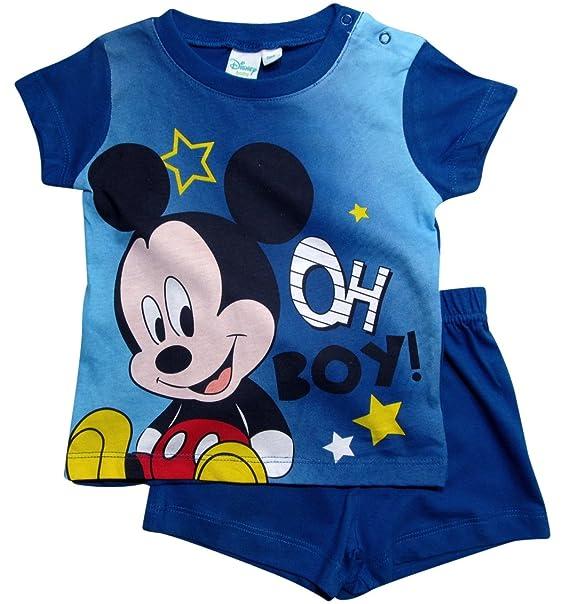 Mickey Mouse - Pijama entero - para bebé niño: Amazon.es: Ropa y accesorios