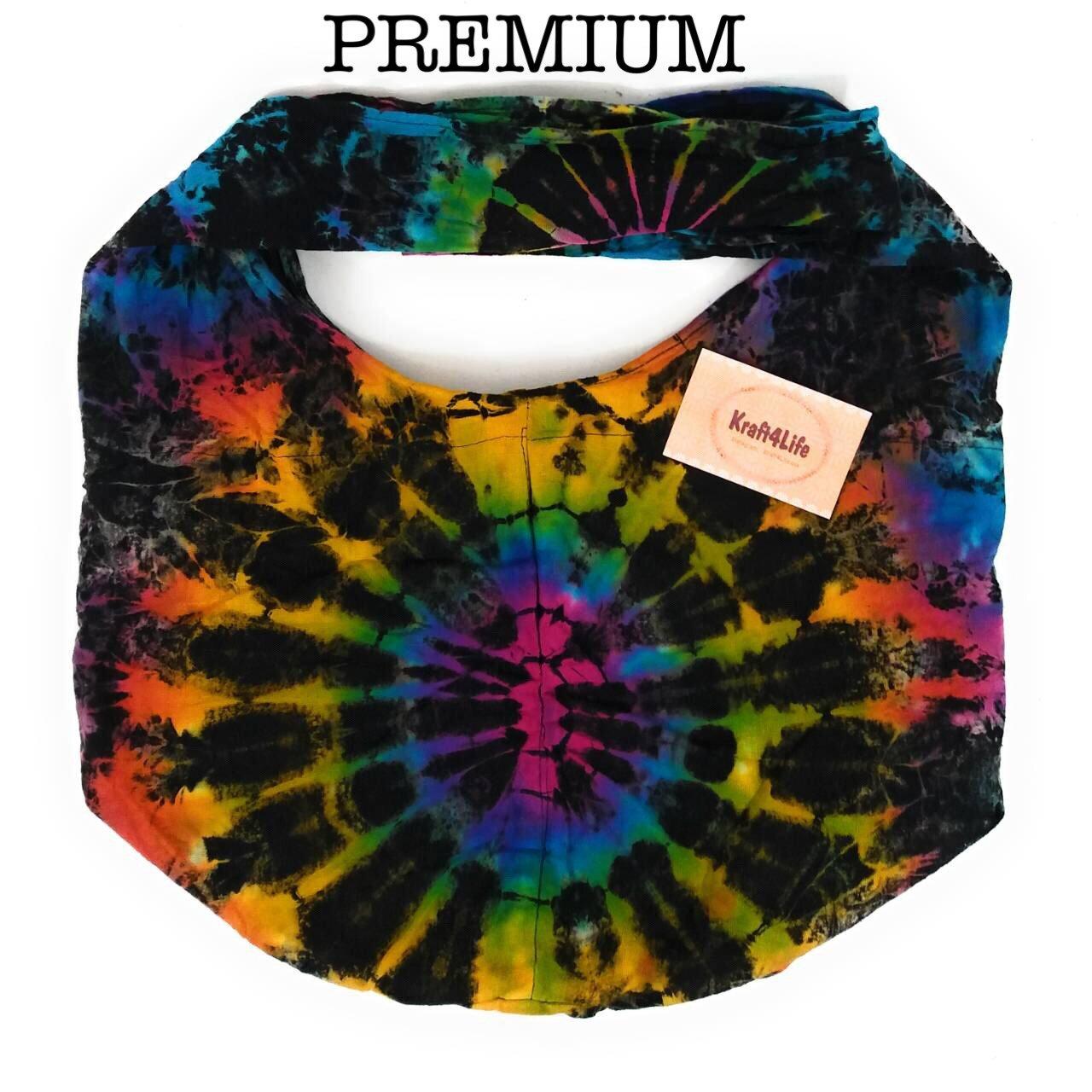 Kraft4Life PREMIUM Tie Dye Hippie Hobo Boho Sling Crossbody Shoulder Messenger Bag Bohemian(PM_TieDry002)