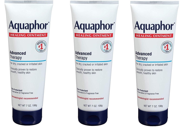 Aquaphor Healing Ointment - Dry Skin Moisturizer - Hands, Heels, Elbows, Lips, 7 oz. Tube, 3 Pack