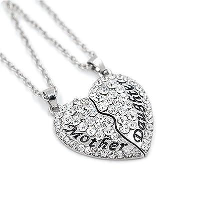 1set2pcs charm split love heart mother daughter necklace pendant 1set2pcs charm split love heart mother daughter necklace pendant gift for mother daughter aloadofball Choice Image