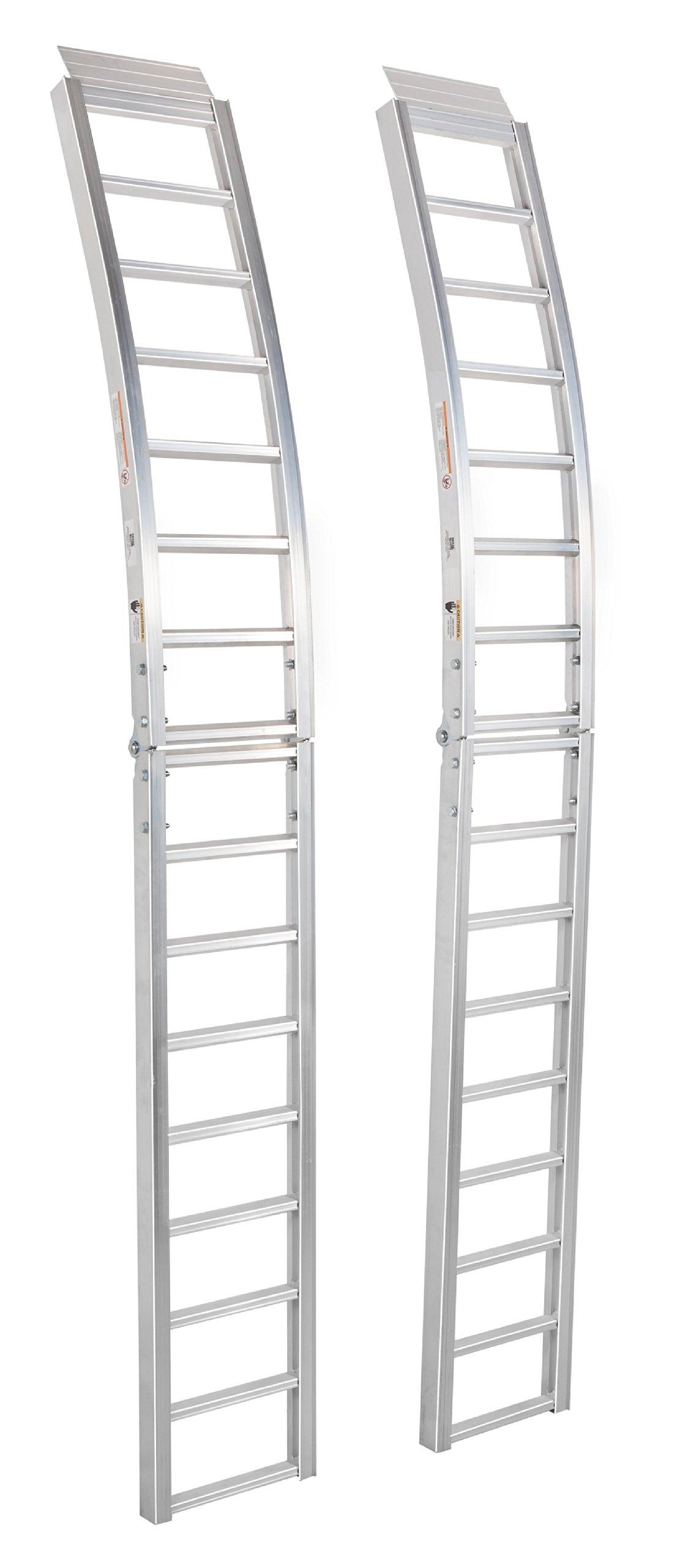 Highland (1123100) 90'' Aluminum Arched Center Fold Loading Ramp - Pair
