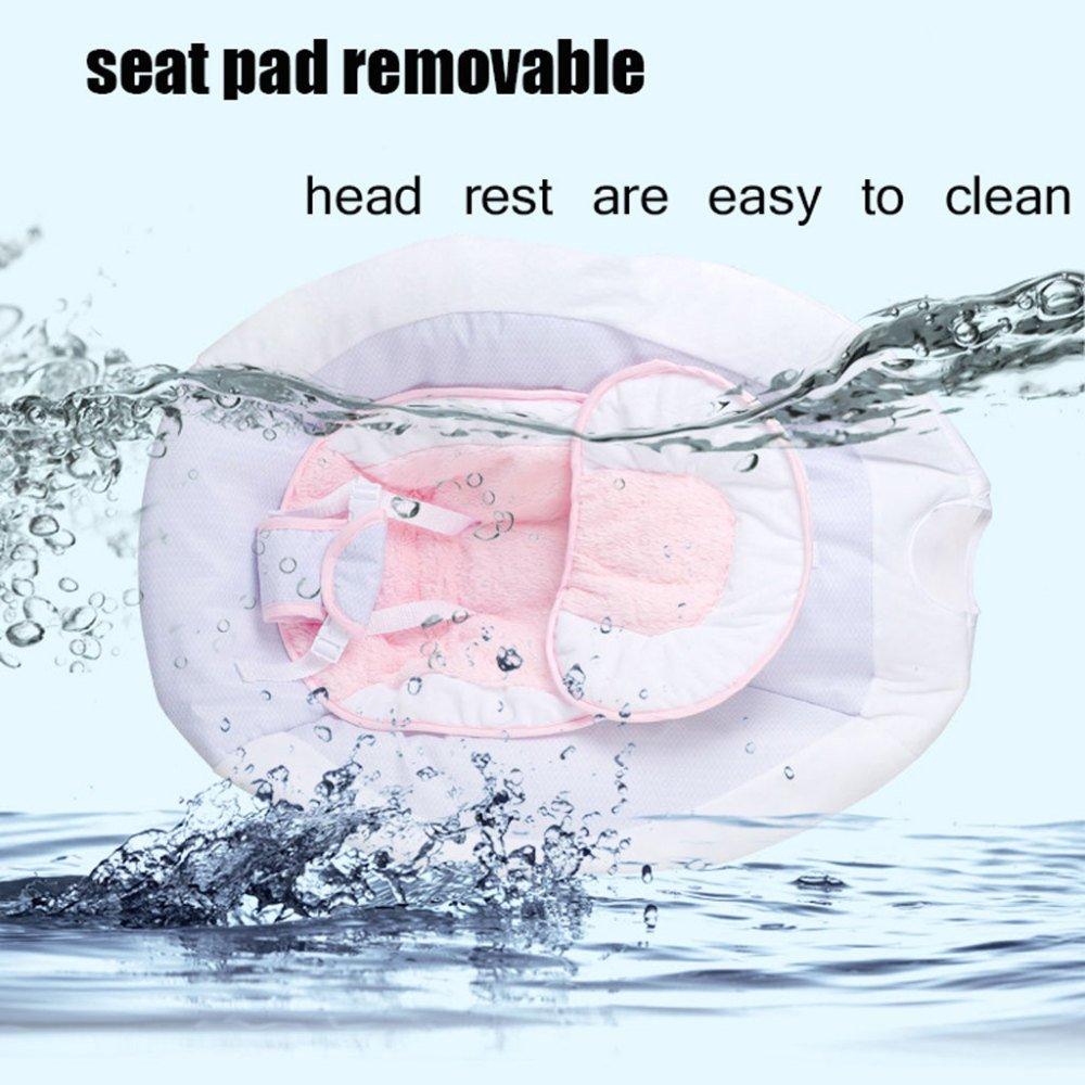 JXWANG Portable Baby Elektrische Schaukel Stuhl und Bouncer mit Songs und Sounds-Geeignet von 0-3 Jahre Alt,Pink