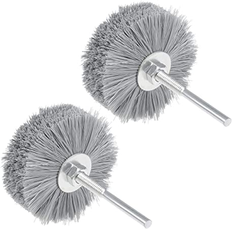 uxcell Nylon Wheel Brush 1000 Grits Abrasive Grinding Head with 6mm Threaded Shank