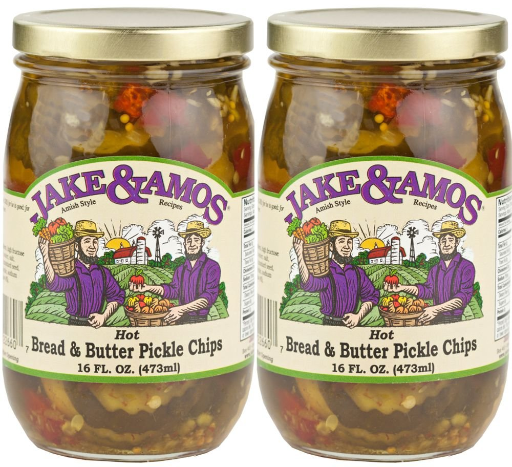 Jake & Amos - Hot Bread & Butter Pickles / 2 - 16 Oz. Jars