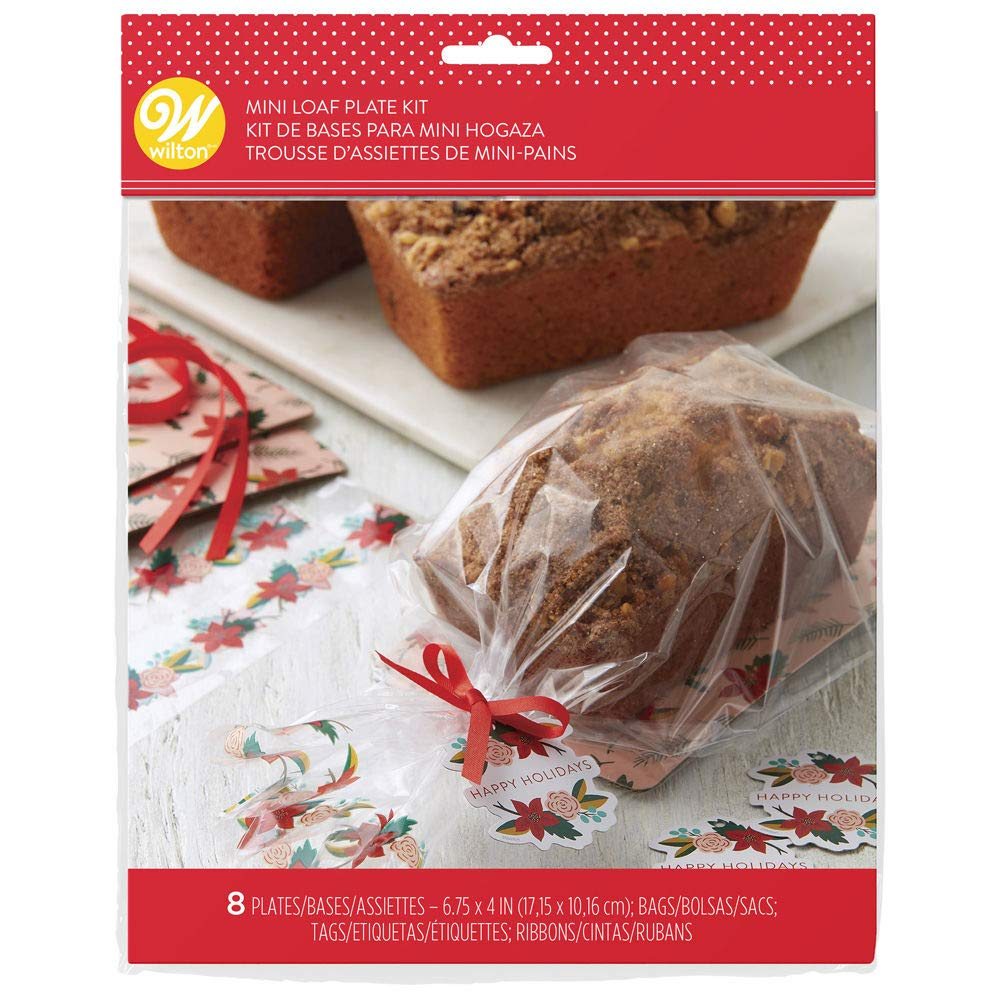 Amazon.com: Wilton 1912-4277 Mini Loaf Holiday Kit - 8 Count ...
