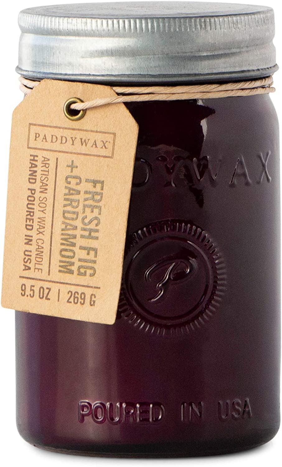 Paddywax Candles RJ808Z Relish Collection Scented Candle, 9.5-Ounce, Fresh Fig + Cardamom