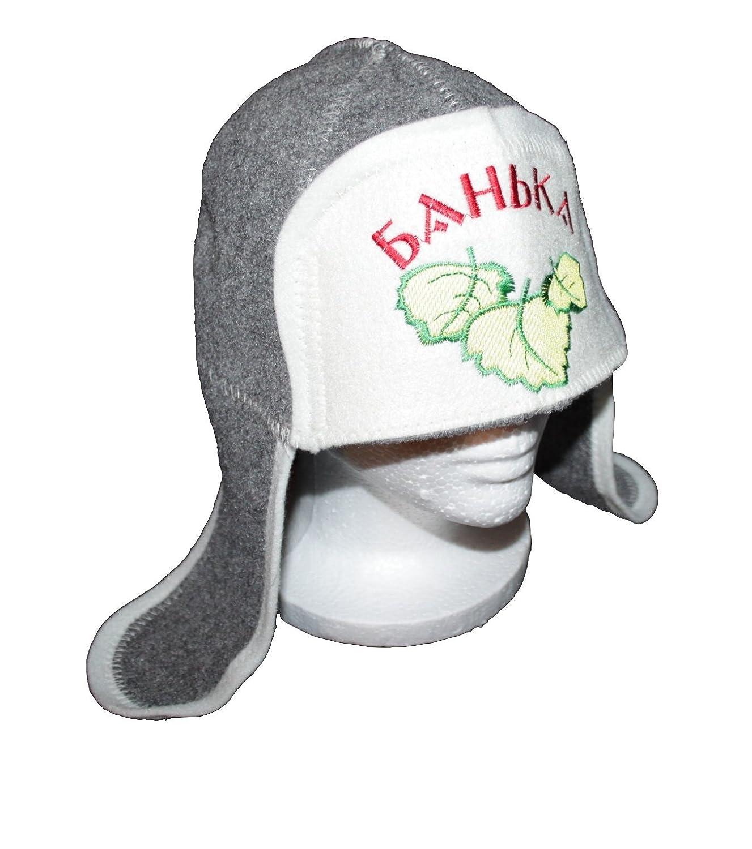 Amazon.com   Russian Gray Wool Felt Ushanka Style Hat for Sauna Banya  Steamroom