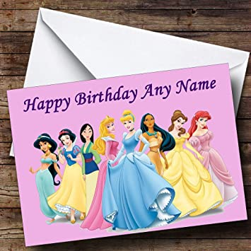 Personalised Disney Princess Birthday Card