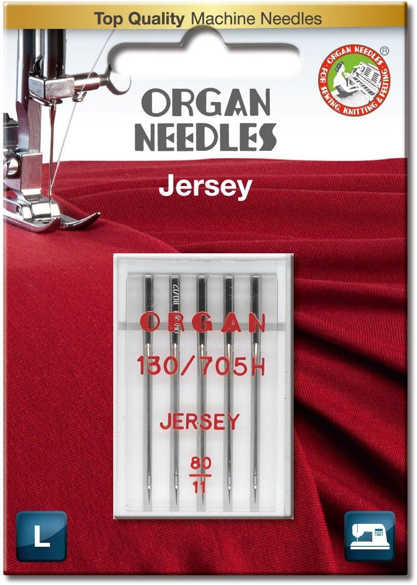 ORGAN NEEDLES Needles #80/12 Jersey x 5 Agujas: Amazon.es: Hogar