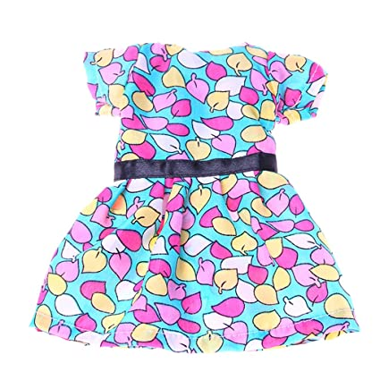 944ed5325654 Amazon.com  Dovewill 14 inch Dolls Clothes Colorful Leaves Party ...