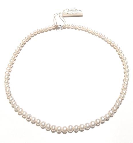 negozio online 38dc4 e024d Girocollo MILUNA di perle e oro bianco 18kt PCL4196