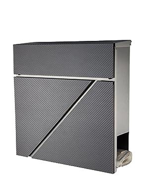 Frontfarbe:diamant-anthrazit New-Design-2D H20cm Hausnummer Edelstahl Nr.3