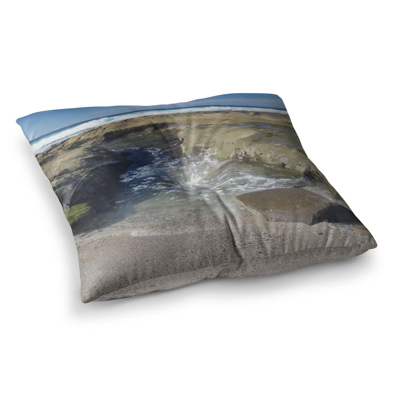 Kess InHouse Nick Nareshni Coastal Reef Black Tan Photography 23 x 23 Square Floor Pillow