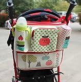 Tokkids - Organizador para coches de paseo y bolso cambiador de bebé, Cochecito organizador bolsa, cochecito organizador cochecito copa titulares con correa de hombro desmontable, para todos los carritos, espacio de almacenamiento extra grande para todos los objetos personales