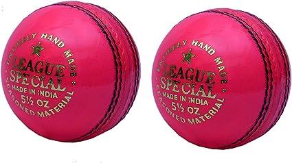 CW juego de 2 Liga especial rosa piel pelota de críquet ...