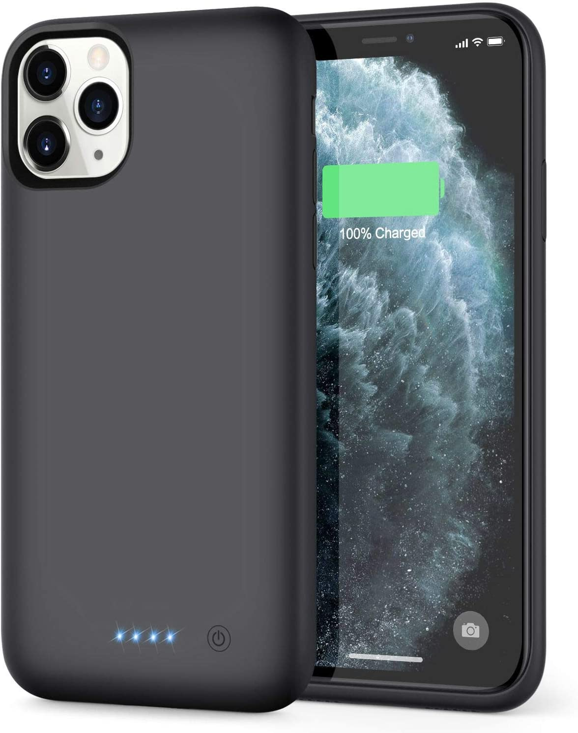 Xooparc Battery case for iPhone 11 pro max [7800mah] Upgraded Charging Case Protective Portable Charger Case Rechargeable Extended Battery Pack for Apple iPhone 11 pro max (6.5') Backup Power Bank