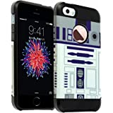 iPhone SE Case, DURARMOR® iPhone SE 5S [Lifetime Warranty] Star Wars R2D2 Astromech Droid Robot Dual Layer Hybrid ShockProof Ultra Slim Armor Air Cushion Bumper Protector Case Cover for iPhone SE 5S 5