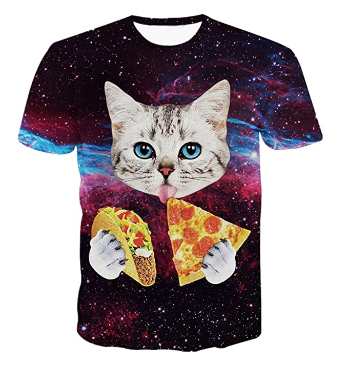 Pizza and Taco cat shirt