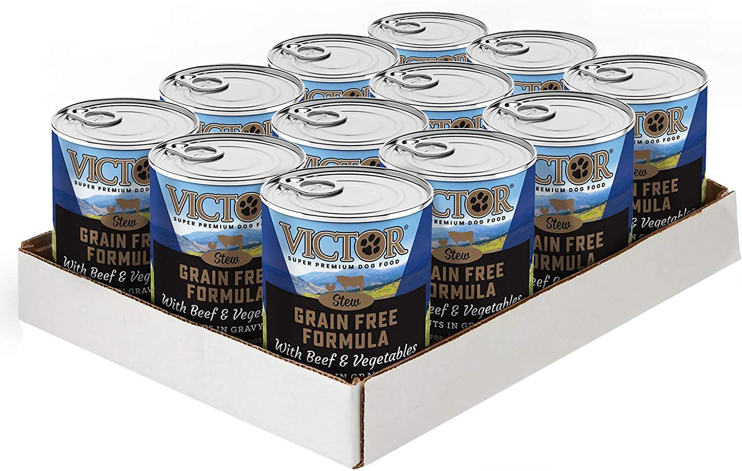 Victor Grain Free Cuts In Gravy With Beef And Vegetables Dog Food -Canned, 12/13.2 Oz. Cans