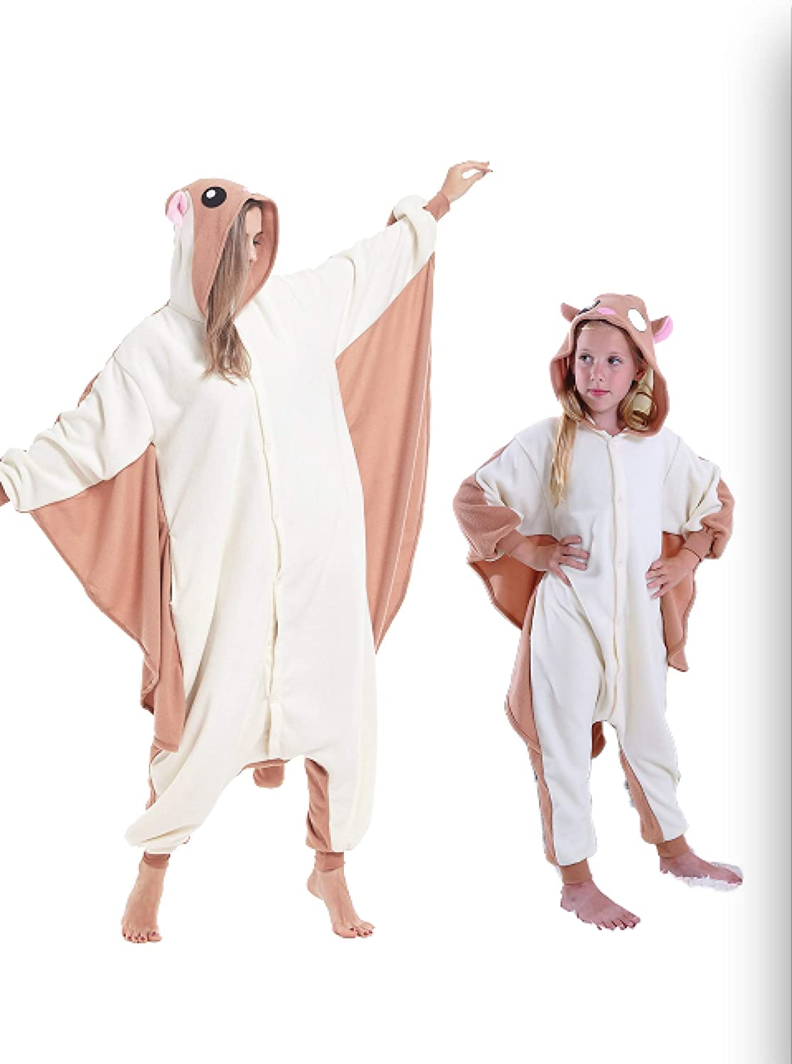 cosMonsters Kids Flying Squirrel Animal Onesies Cosplay Costume Pajama for Girls and Boys