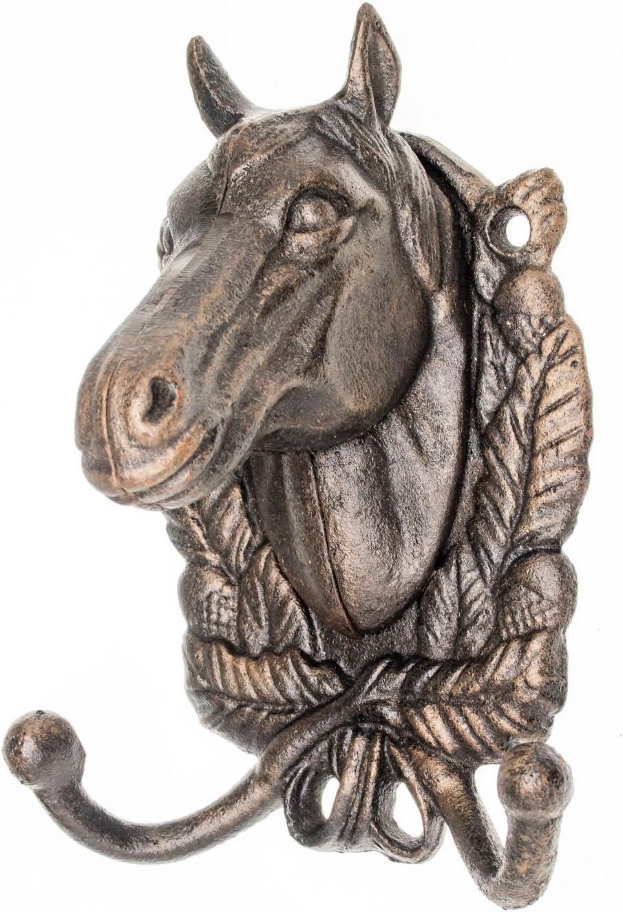 Perchero Toalla Armario Caballo de Hierro Estante Estilo Antiguo Caballo de