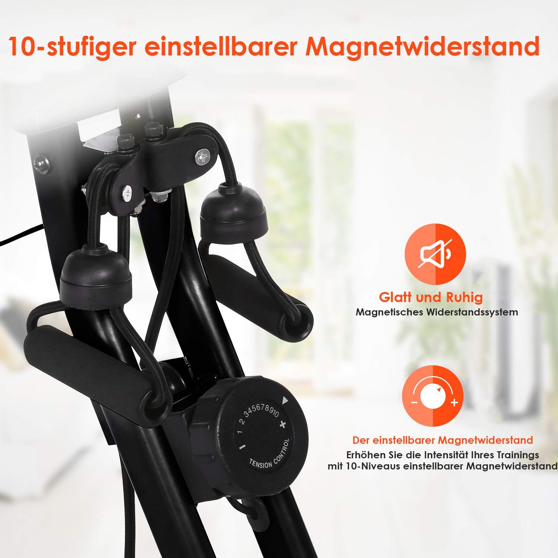 ANCHEER 2 in 1 Heimtrainer Fitness Fahrrad Klapp-Heimtrainer Gro/ßer und bequemer Sitz f/ür SB/_015