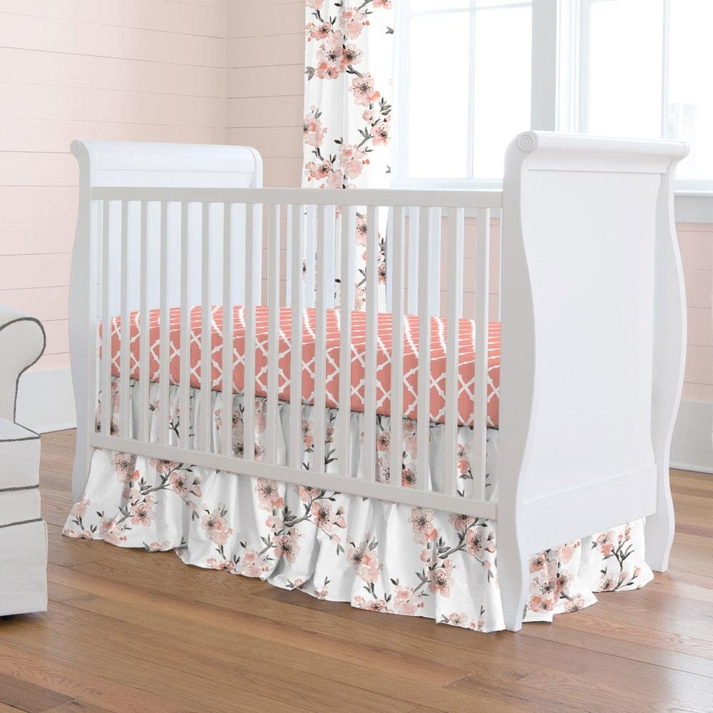 Amazon Com Carousel Designs Light Coral Cherry Blossom