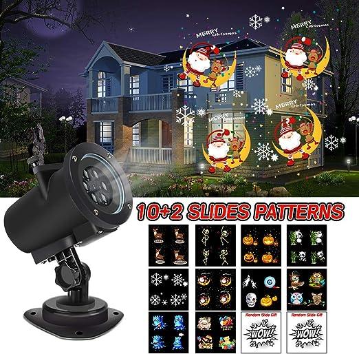 Proyector de luces LED para Halloween, con 12 patrones de ...
