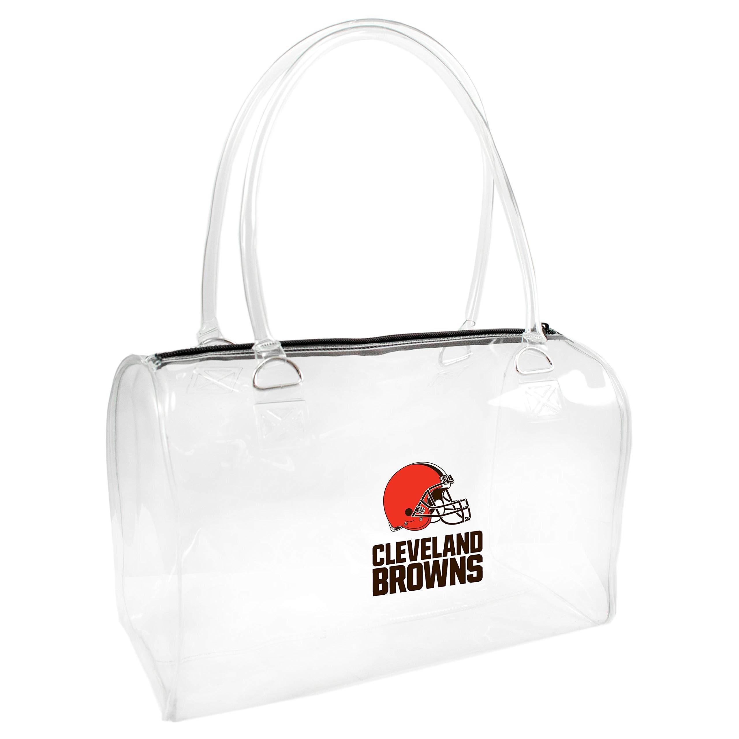 NFL Cleveland Browns Clear Bowler Handbag